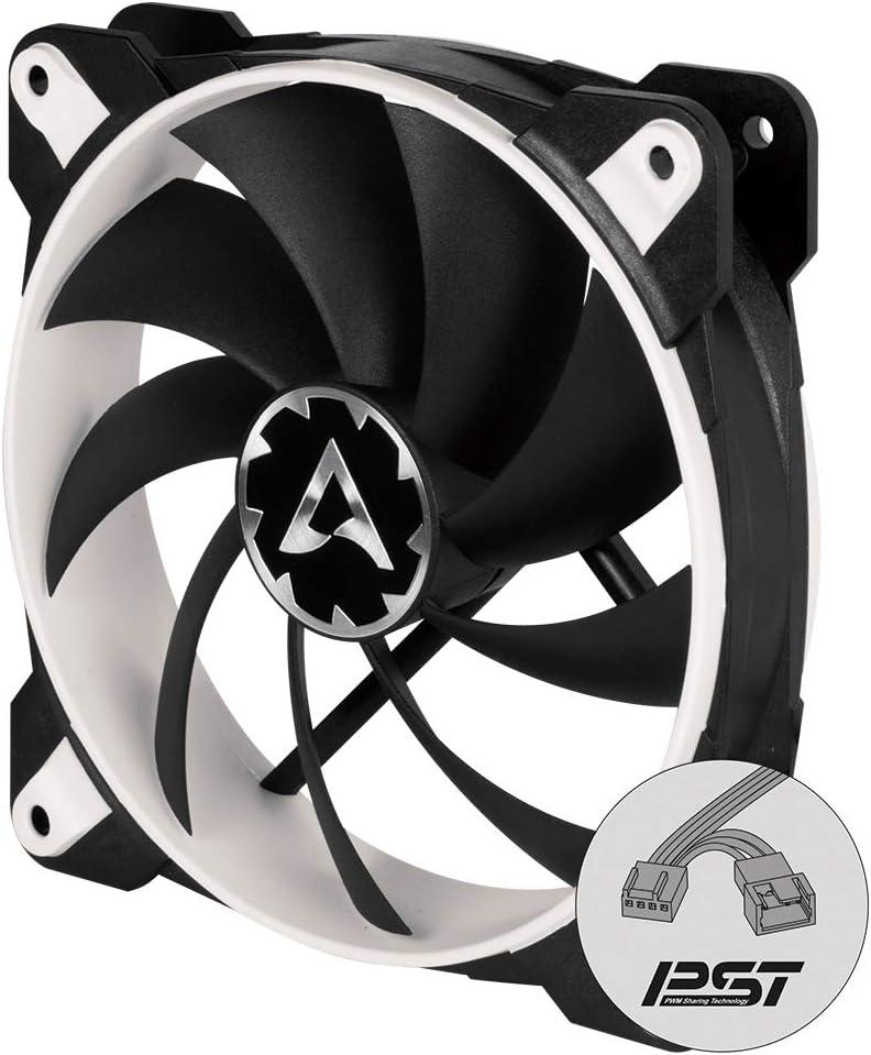 ARCTIC BioniX F120 – 120 mm Ventilador de Caja para CPU con PWM Sharing Technology (PST), Motor Trifásico Muy Silencioso, Computadora, 200-1800 RPM – Blanco