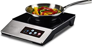 ChangBERT 1800W Portable Commercial / Household Induction Cooktop, Pro Chef Professional-Grade NSF-Certified, High Power Restaurant range Countertop burner, with Stainless Steel Housing Induction Cooker