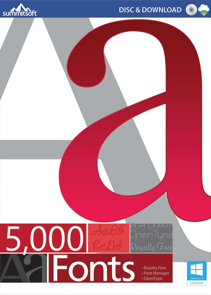 5000 FONTS [Download] by Summitsoft