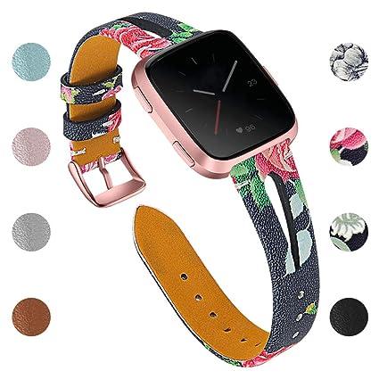 Amazon.com: Joyozy - Bandas de piel auténtica para Fitbit ...