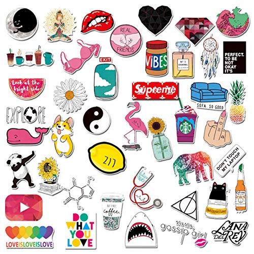 Girls Stickers 45pcs Cute Pink Lovely Stickers For Personalize Water Bottle Car Helmet Skateboard Luggage Bike Bumper Notebook Laptop Waterproof Graffiti Decals De Lovely