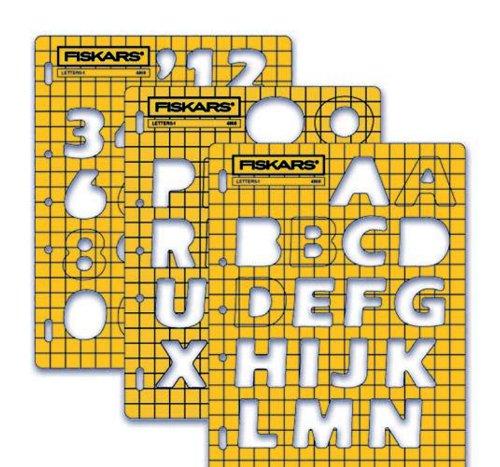 Fiskars 48687097 Shape Template, Lettering Set 1 (Plastic Fiskars Templates)