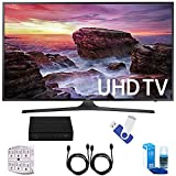 Samsung UN40MU6290 6-Series 39.9' LED 4K UHD Smart TV Deluxe Accessory Bundle includes TV, TV Tuner, 16GB USB 2.0 Flash Drive, Screen Cleaner, 6-Outlet Surge Adapter, and 6ft High Speed HDMI Cable x 2