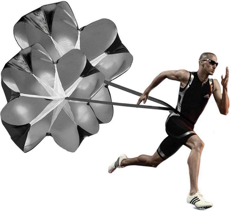 KUYOU Running Speed Training, 2 Umbrella Speed Chute 56 Inch Running Parachute Soccer Training for Weight Bearing Running and Fitness Core Strength Training : Sports & Outdoors