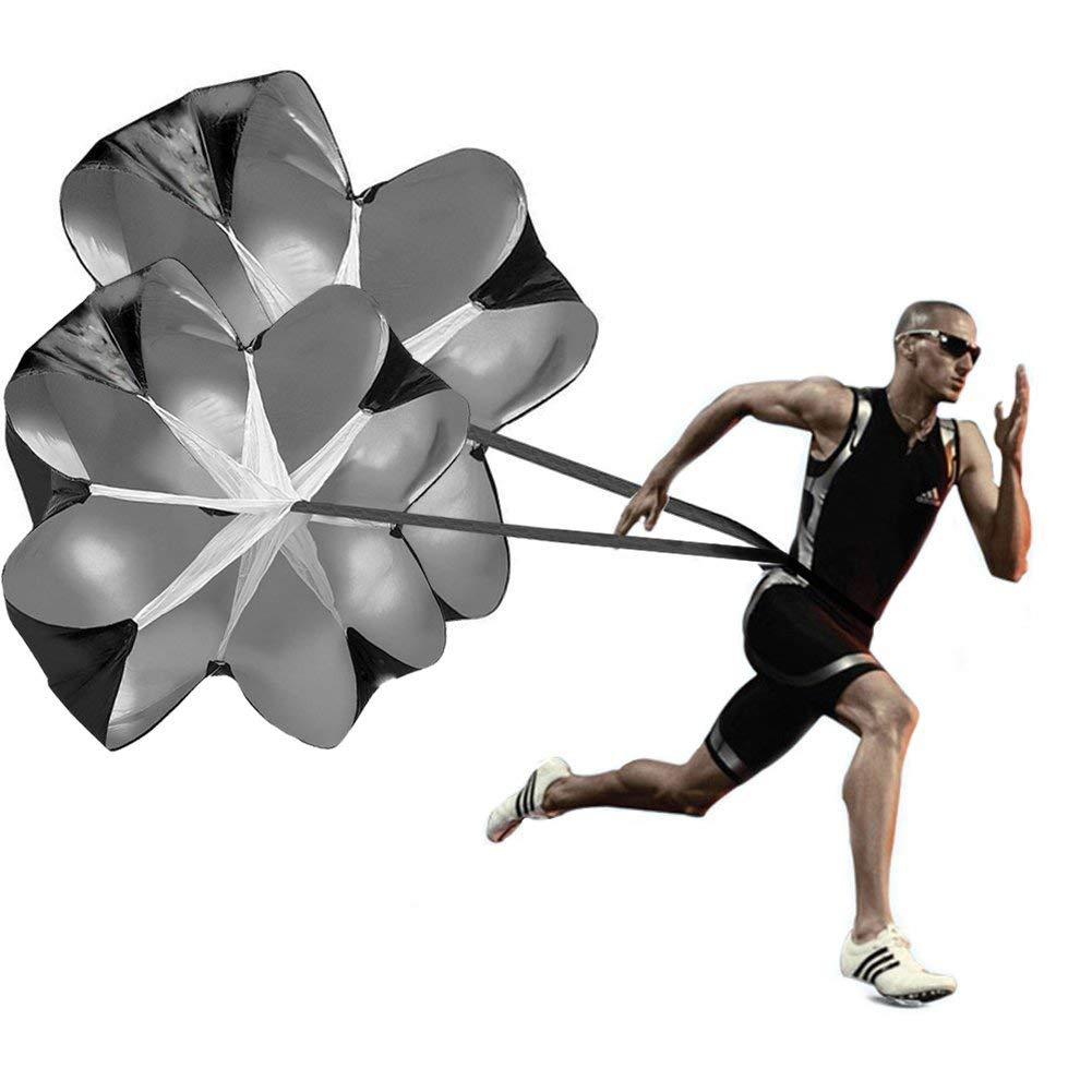 Running Speed Training, 2 Umbrella Speed Chute 56 Inch Running Parachute Soccer Training for Weight Bearing Running and…