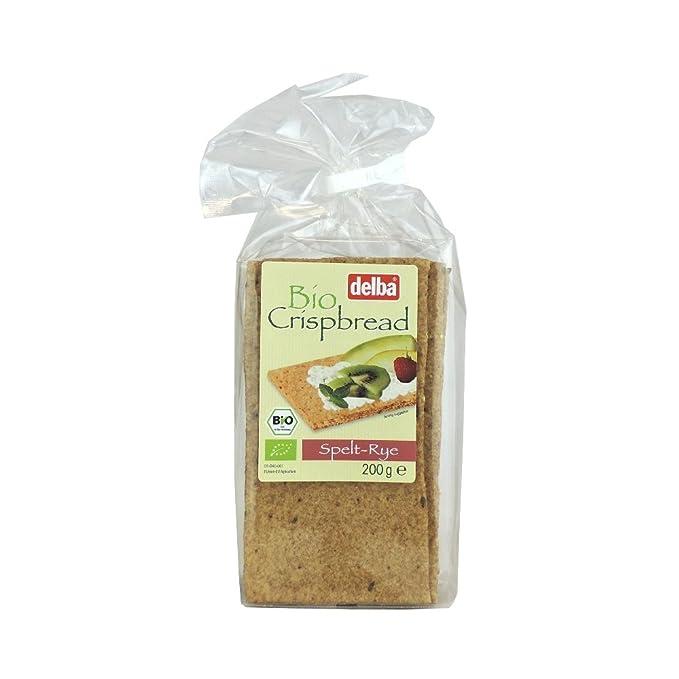 delba – Bio Crispbread – spelt-rye – 200 g: Amazon.com ...