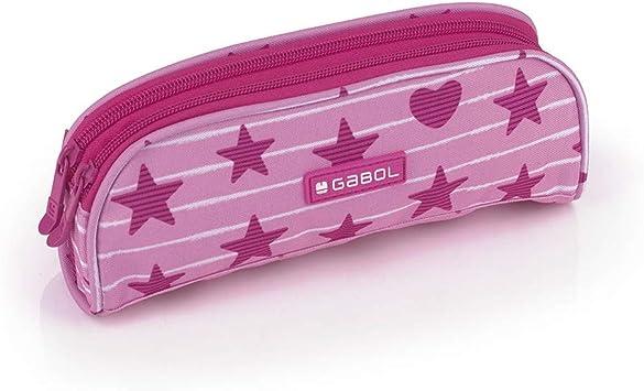 Gabol - Shiny | Estuche Rosa con 2 Cremalleras: Amazon.es: Oficina y papelería