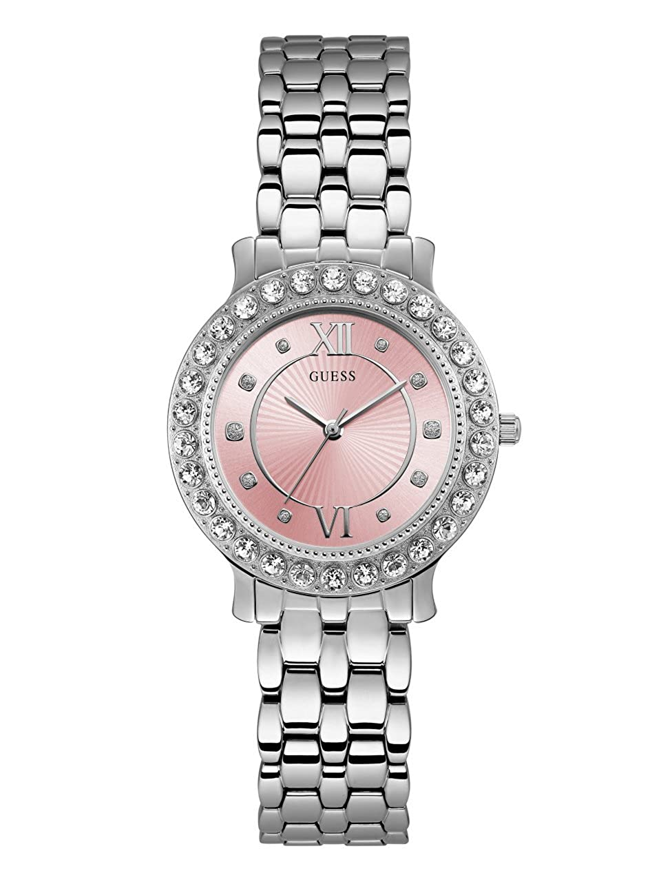 7e0ea592391 GUESS Women's Stainless Steel Crystal Watch