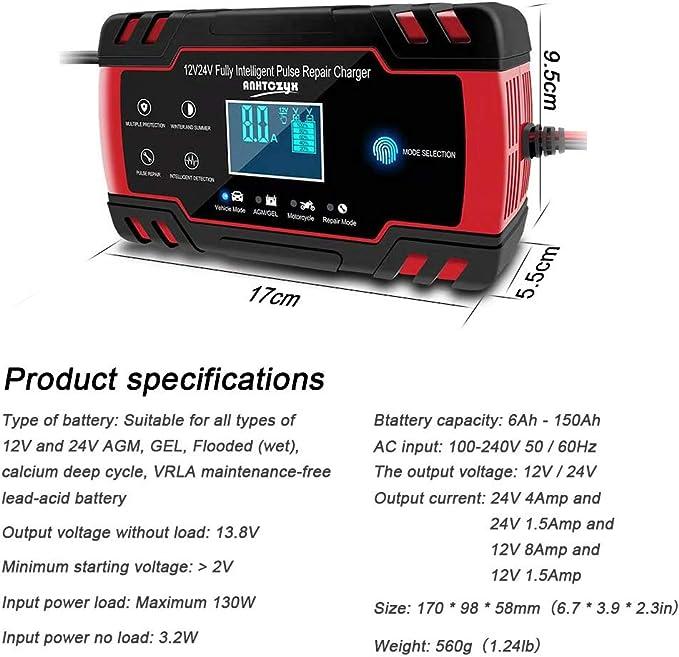 8 Batterie Contemporaneamente biteatey Caricabatterie RCR123A Ricarica Efficiente E Veloce