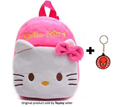 3920e3cb2725 Buy ToyJoy Hello Kitty school bag 2 compartment 35cm with keychain for kids  girls boys children plush soft bag backpack cartoon bag gift for kids  Online at ...