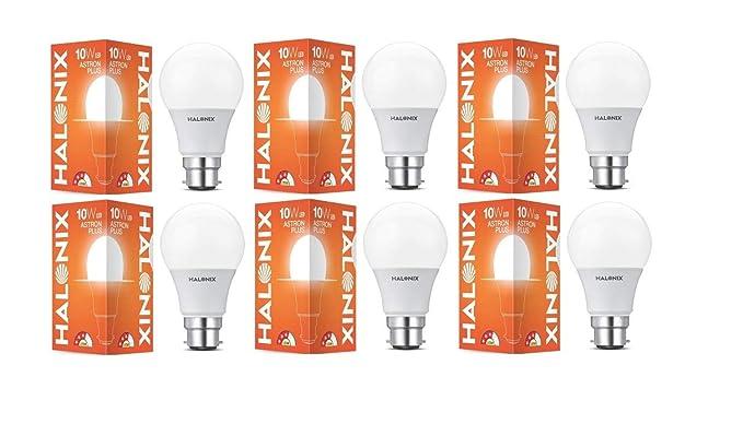 Halonix 10W B22 LED White Bulb, Pack of 6