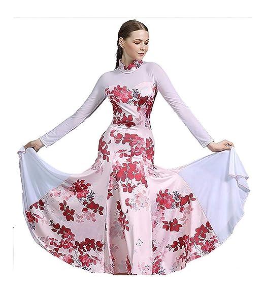 APcjerp Adulto Moderno salón de Baile Vestido de la Danza Nacional ...