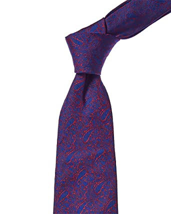 a6192c532a64 Turnbull & Asser Mens Navy & Red Paisley Silk Tie, Os, Blue at ...