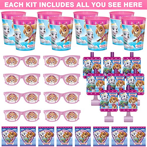 Costume SuperCenter Pink Paw Patrol Favor Kit (For 8 -