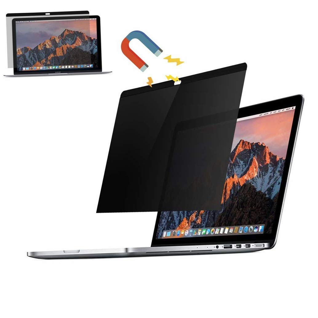 MacBook pro Privacy Screen Protector 13 and 15 inch,Blocks Prying Eyes,Magnetic and Ultra Slim.Easy ON/Off … (MacBook Pro 13 inch (2016-2018)) by JMLY (Image #1)