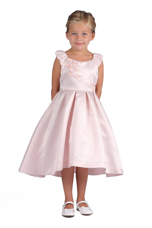 cbcdc14c7 Amazon.com: Isobella & Chloe Satin Flower Girl Wedding Dress Multiple  Colors Available: Clothing