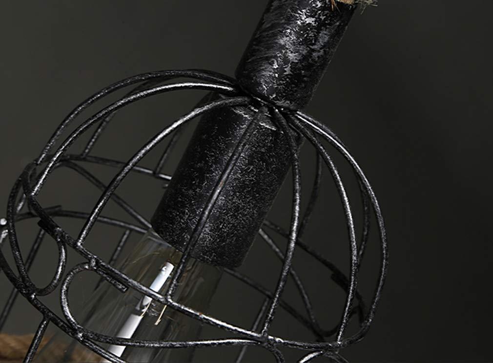 l/ámpara de Techo de c/á/ñamo Industrial Retro L/ámpara Colgante de l/ámpara de Cuerda de Metal L/ámpara de sal/ón Comedor Bar Balc/ón//No Incluido Bombillas COCOL L/ámpara Colgante de luz de Techo