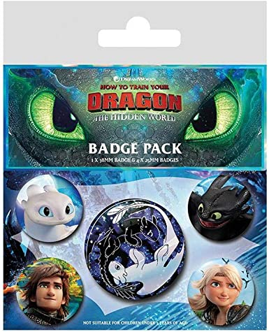 How To Train Yout Dragon - Pack De Chapas Familiar Faces: Amazon.es: Videojuegos