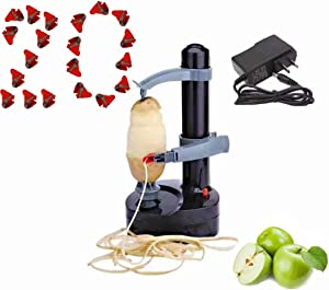 Electric Potato Peeler Electric Apple Peeler With 20 Extra Replacement Blades Peelers For Kitchen Fruit Peeler & Vegetable Peeler Apple Peeler Tool Automatic rotating peeling machine