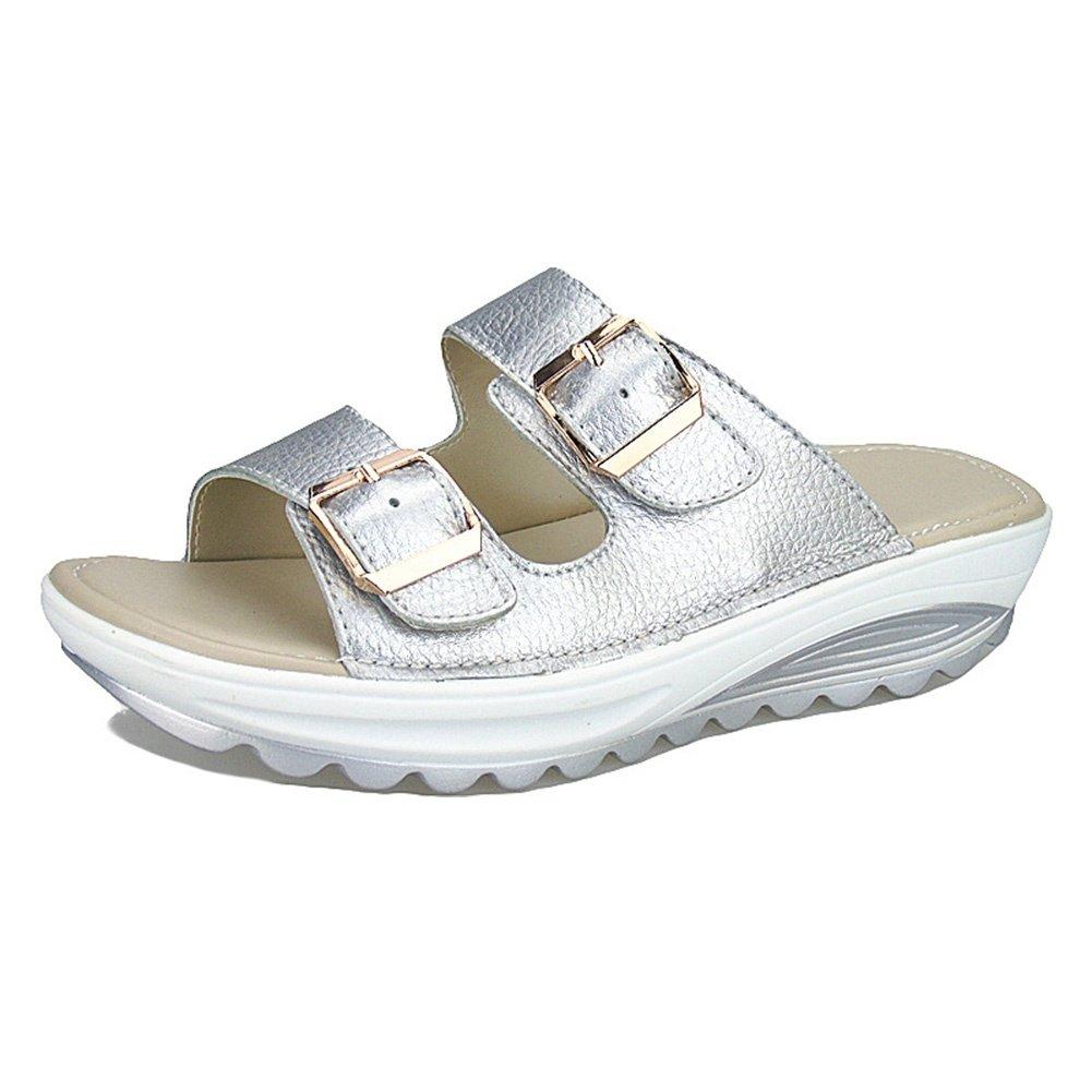 CJ en 2018 été chaussures nouvelles sandales sandales dames et pantoufles en cuir casual dames pantoufles anti-dérapant fond épais pente avec des étudiants chaussures de plage, 006, UK 6/EU 38.5 - 69aa31a - shopssong.space