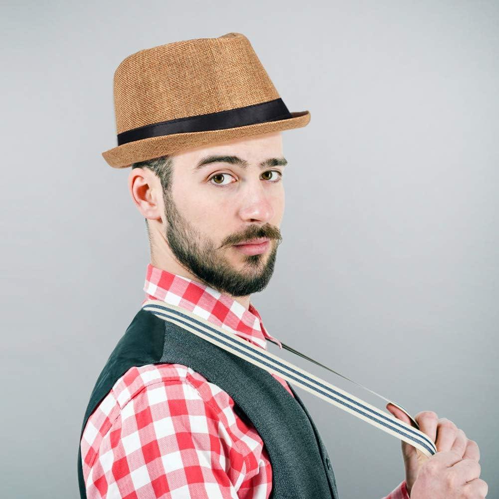 1920s Panama Fedora Hat for Men Gatsby Hat Cap 1920s Mens Gatsby Costume Accessories