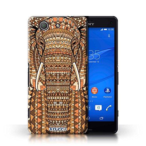 Kobalt® Imprimé Etui / Coque pour Sony Xperia Z3 Compact / éléphant-Orange conception / Série Motif Animaux Aztec