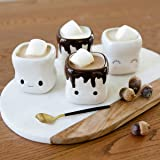 AVAFORT Marshmallow Shaped Hot Chocolate Mugs Couple Matching Mugs Anniversary Christmas Wedding Valentine's Day Gift Funny Coffee Mug Set
