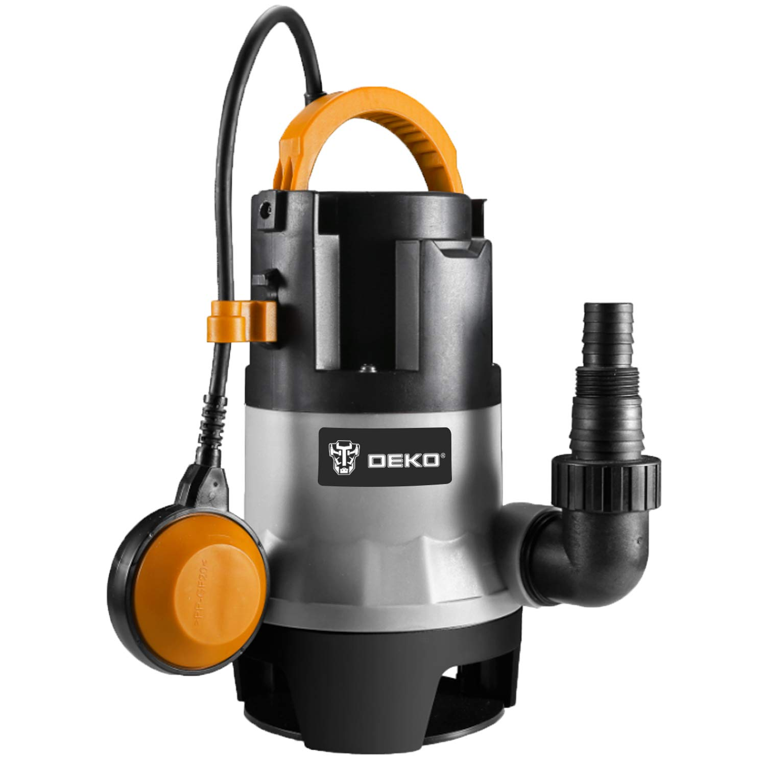 DEKO Sump Pump 1HP 3302GPH 750W Submersible Clean/Dirty Water Pump Swimming Pool Garden Tub Pond Flood Drain w/Float Switch and Long 16ft Cable