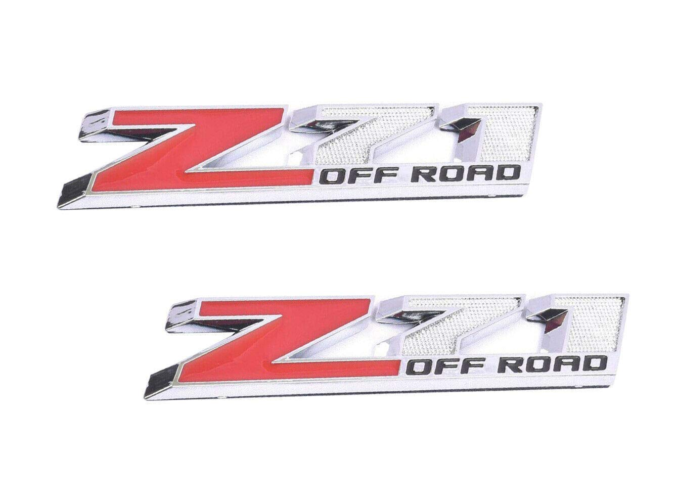 Z71 off road Emblem Badge Plate Decal Compatible for 2018 COLORADO GMC Chevy Silverado 2014 2015 2016 2017 2018 5.1L 2 Pack Red