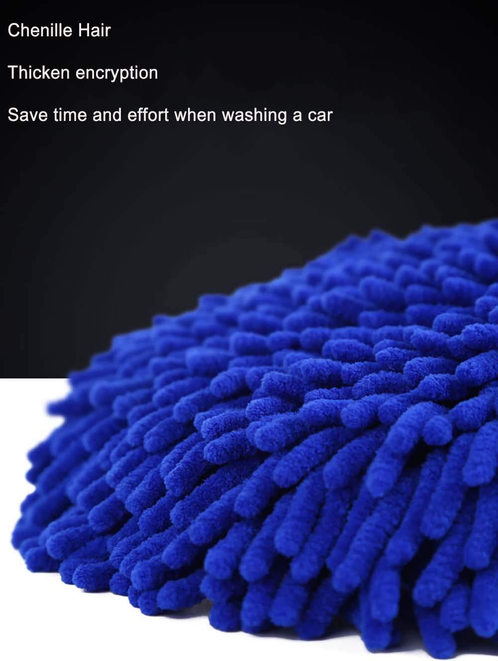 BMDHA Autowaschb/ürste Chenille Weiche B/ürste Wasche Mop Wird Die Farbe Nicht Verletzen 62-97Cm,B