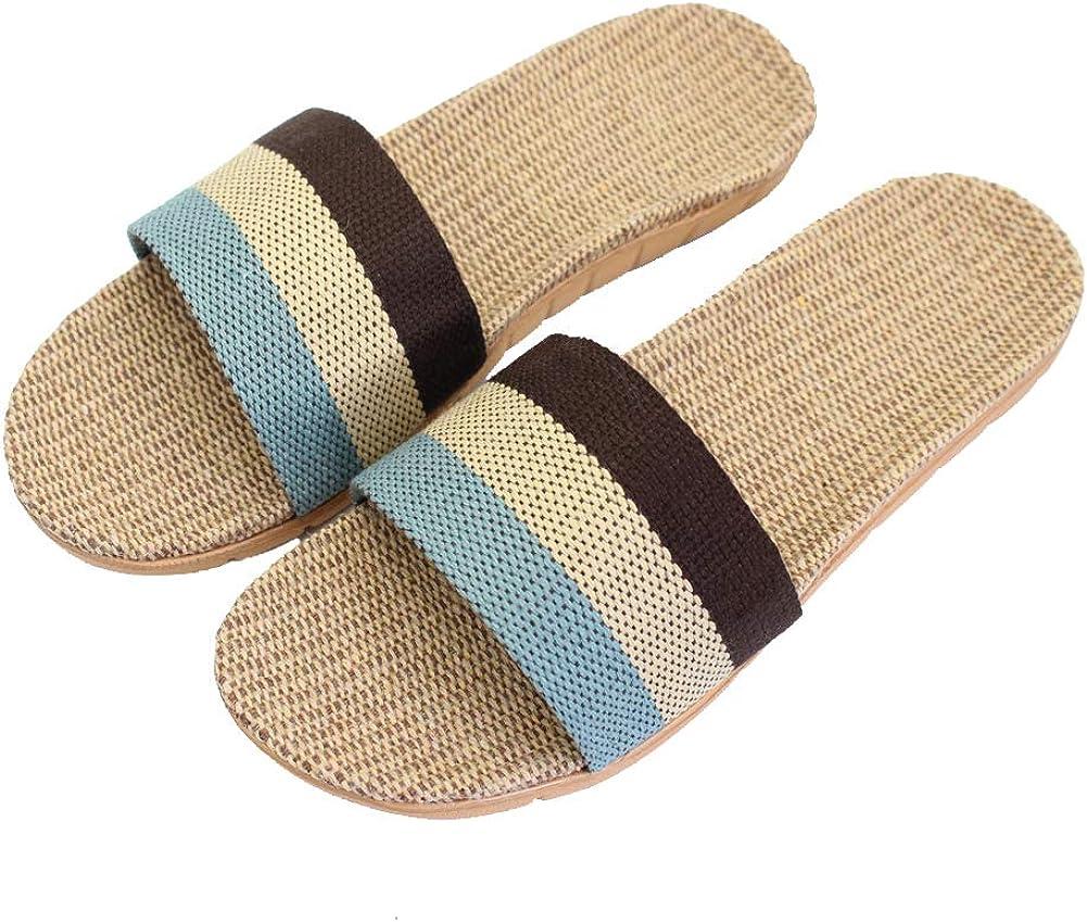 Hwayslon Fashion Unisex Linen Summer Skidproof Indoor Slippers