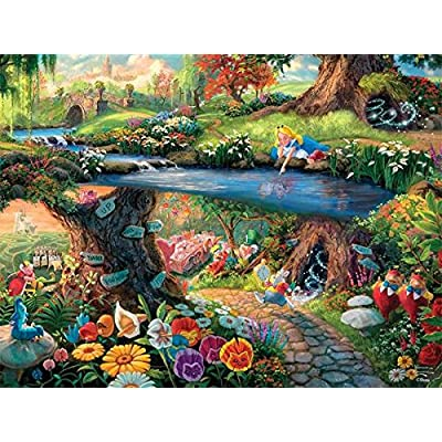 Ceaco Thomas Kinkade The Disney Collection Alice in Wonderland Jigsaw Puzzle, 750 Pieces: Toys & Games