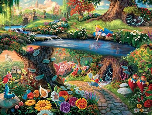 Ceaco Alice in Wonderland Thomas Kinkade Disney Jigsaw Puzzle - 750 pieces]()