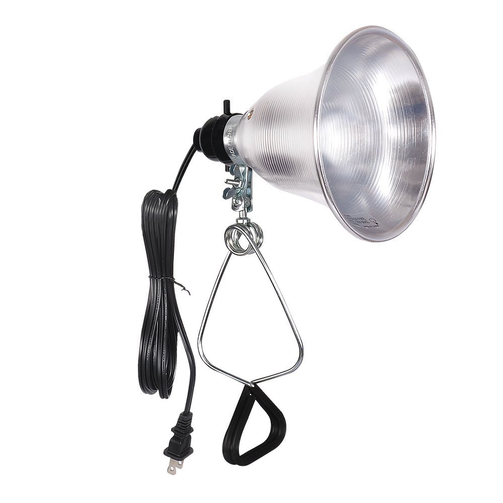 Simple Deluxe Clamp Lamp Light with 5.5 Inch Aluminum Reflector up to 60 Watt E26 (no Bulb Included) 6 Feet 18/2 SPT-2 Cord UL Listed
