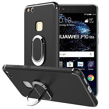 Simpeak Funda Compatible Huawei P10 Lite, Fundas Huawei P10 Lite Carcasa Huawei P10 Lite Funda con Selfie Soporte (5,2 Pulgadas)