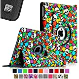 Fintie Apple iPad Air Case - 360 Degree Rotating Stand Case Cover with Auto Sleep / Wake Feature for iPad Air / iPad 5 (5th Generation) - Skull Floral