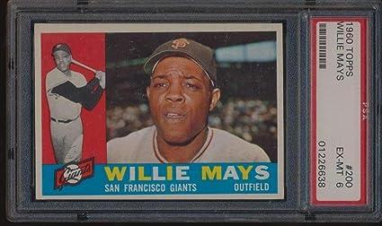 200 Willie Mays Hof 1960 Topps Baseball Cards Graded Psa 6