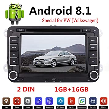 Binize Android 8.1 GPS Navigation for Car Stereo Radio DVD Navi for VW HD Touch Screen
