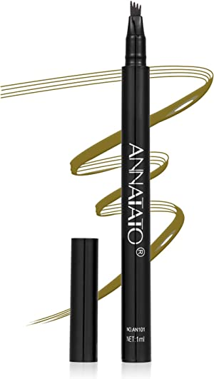 Eyebrow Tint Pen,24HS Waterproof Eyebrow pencil Microblading Eyebrow Pen with 4 Micro-Fork Tips