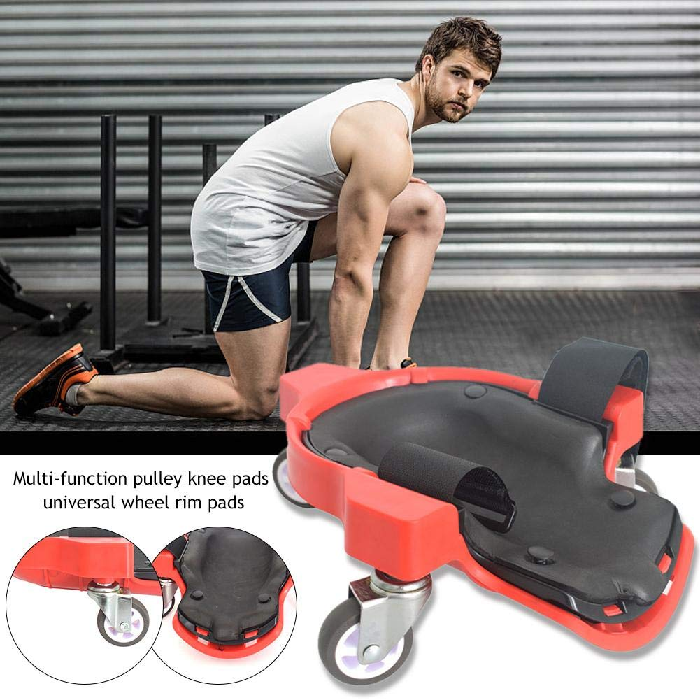 Seayahy Rolling Knee Pads,Multi Function Wheel Knee Pad Protective Safety Rolling Knee Pads For Training Workout Construction Work Knee Pads,Rolling Knee With Foam Cushioned Knee Cups 30229.5cm