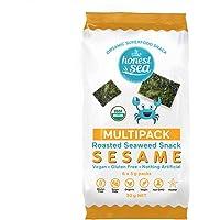 Honest Sea Roasted Seaweed Sesame Snack Multipack, Pack of 6 (30g)