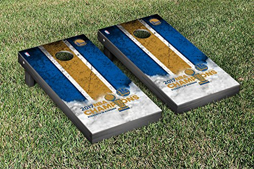 Golden State Warrirors 2017 NBA Champions Cornhole Game Set Vintage Version by Victory Tailgate