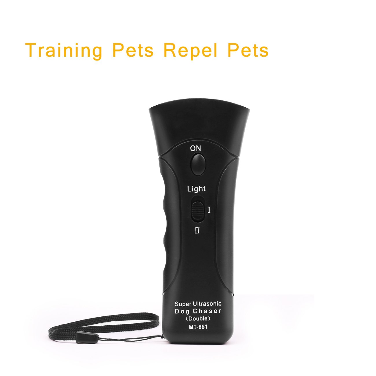 Handheld Dog Repellent, Dual Channel Electronic Animal Repellent, Handy Ultrasonic Dog Training Pet Bark Stopper for Outdoor Camping Garden by Meter.llc (Image #6)