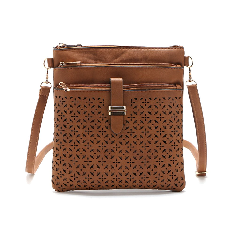 Filigree Four-Zip Crossbody Bag