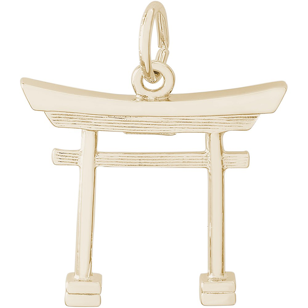 Rembrandt Charms 10K Yellow Gold Japanese Torii Gate Charm (18.5 x 19.5 mm)