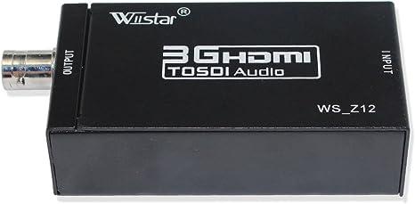 Mini 3G HDMI to SDI+Audio+Spdif Converter Adapter 3.5mm Audio Video Converter