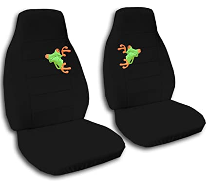 Strange Amazon Com 2 Black Frog Seat Covers For A 2007 To 2012 Ford Machost Co Dining Chair Design Ideas Machostcouk