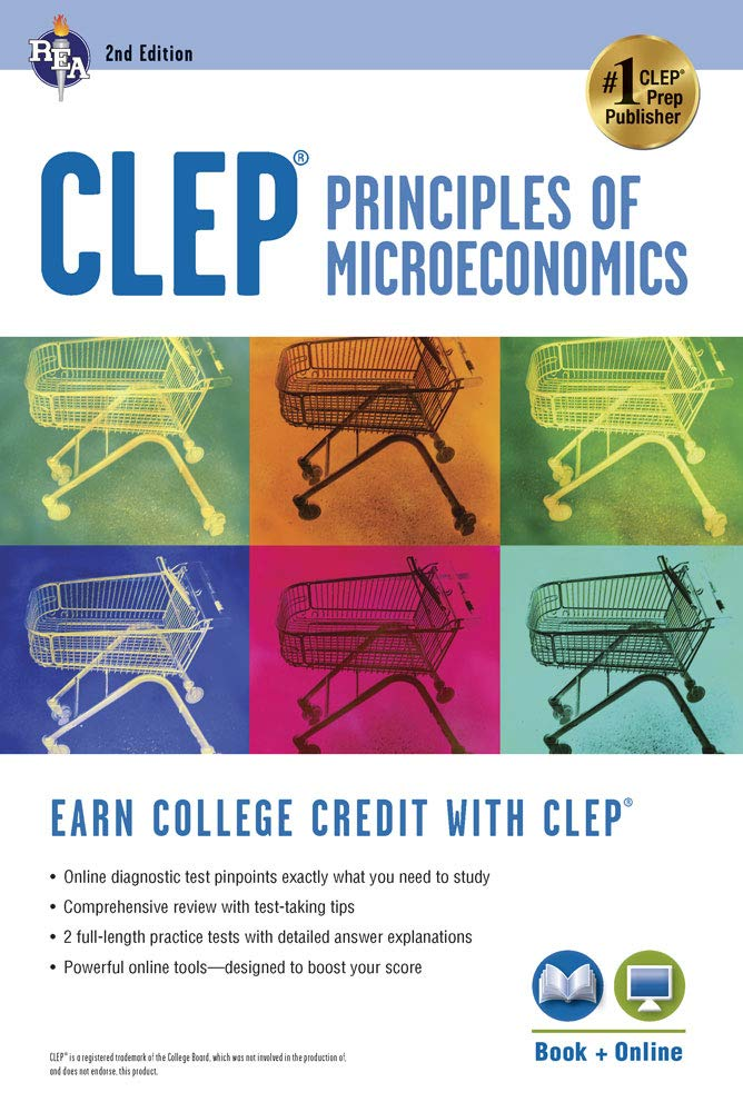 CLEP® Principles of Microeconomics Book + Online (CLEP Test