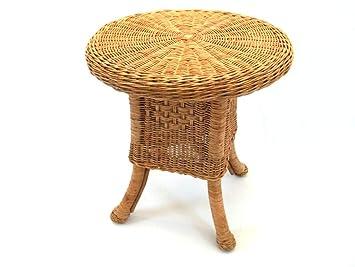 Tisch Couchtisch Beistelltisch Aus Rattan Rustikal Natur Amazon