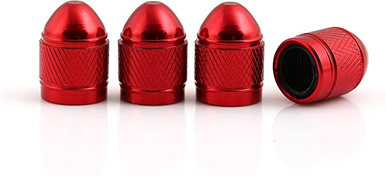 4Pcs Silver Aluminum Bullet Car Truck Air Tire Rim Valve Cover Wheel Stem Caps